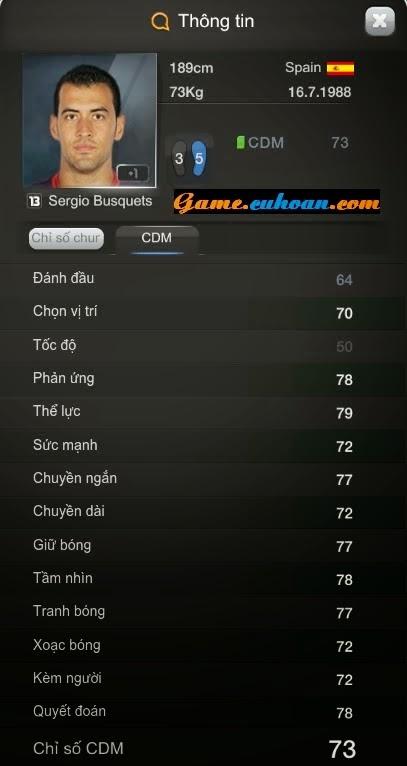 Cầu thủ tiền vệ giá rẻ đá hay Busquet