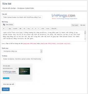 tao trang sua bai wordpress vnkings 2