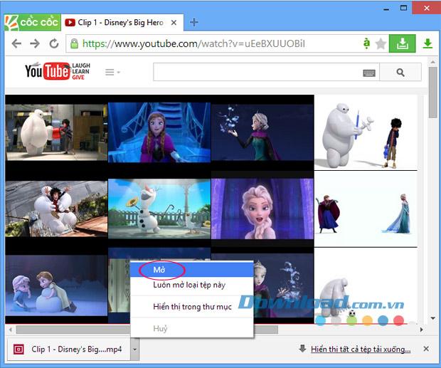 Hướng dẫn tải Video trên YouTube bằng Cốc Cốc