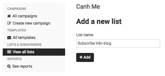 Add a new list