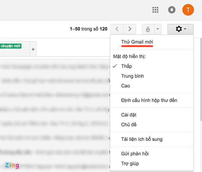 Cach chuyen doi sang giao dien Gmail moi hinh anh 2