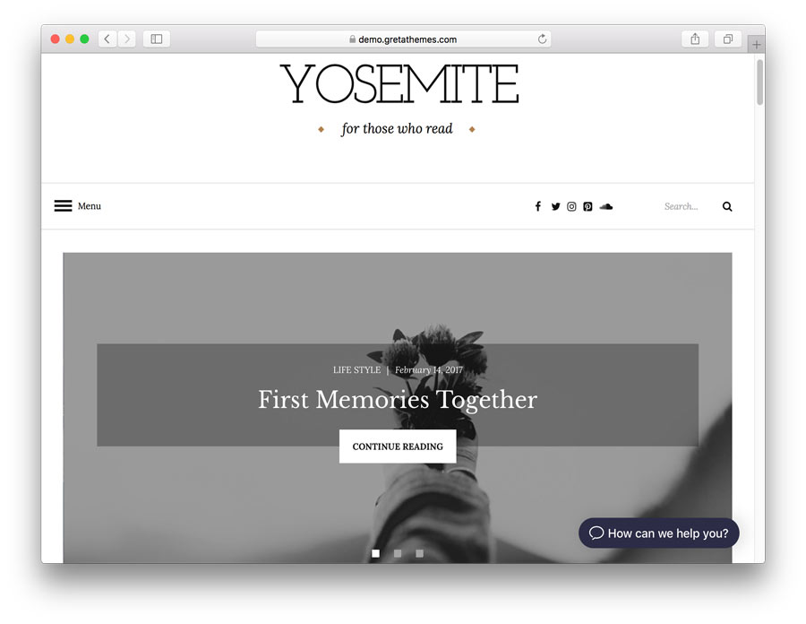 Yosemite Theme Demo Page