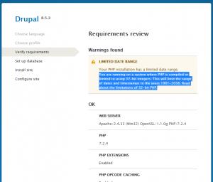 drupal 8 error
