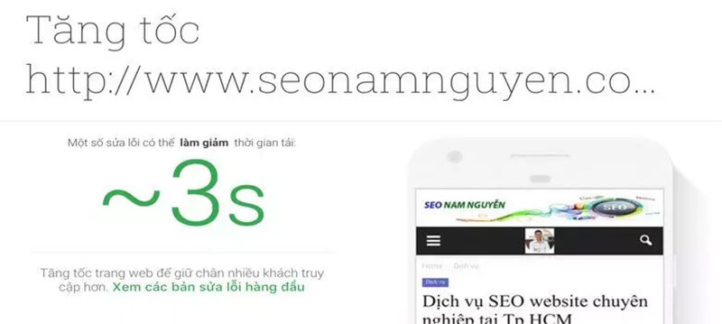 Google sẽ có những gợi ý để chúng ta có thể tối ưu