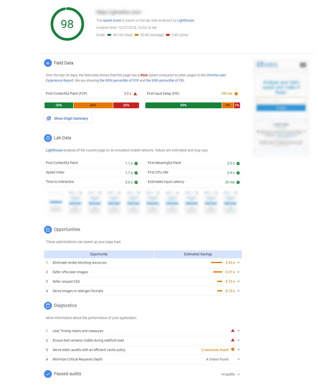 PageSpeed-Insights.