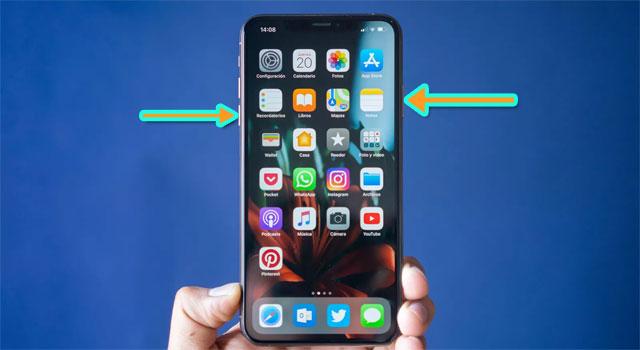 Thao tác tắt nguồn iPhone Xs