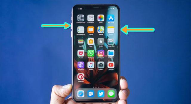 Tắt nguồn iPhone Xs