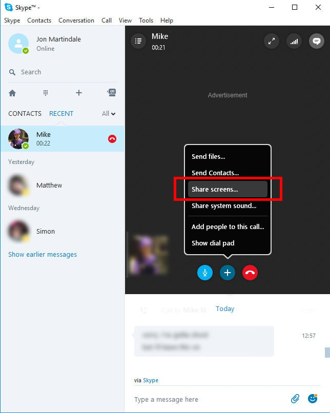 chia se man hinh skype 2