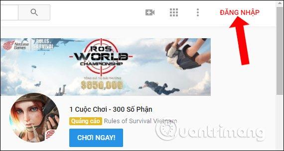 cach upload video len Youtube dang nhap